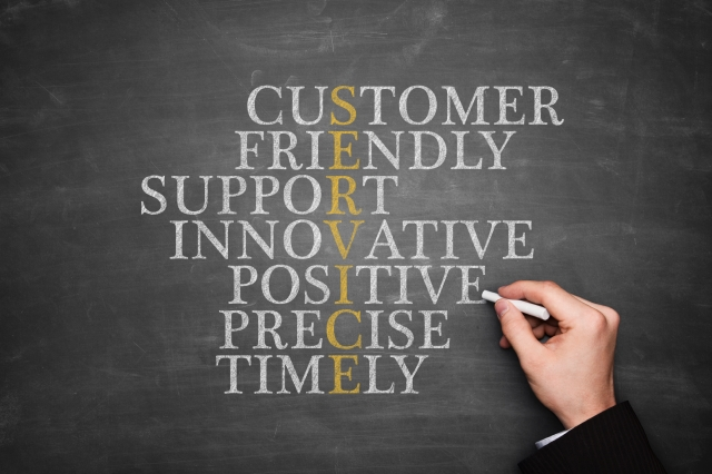 customer-service-image-on-blackboard